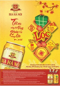 Bia hà nội lon tết, hanoi tết, 2017