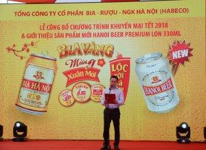 Chương trình khuyến mại bia lon Hà Nội Tết 2018