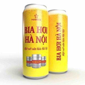 Bia hơi Hà Nội lon 500ml