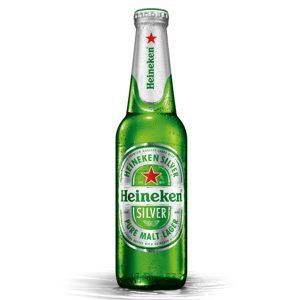 Bia Heineken Bạc (chai thủy tinh)