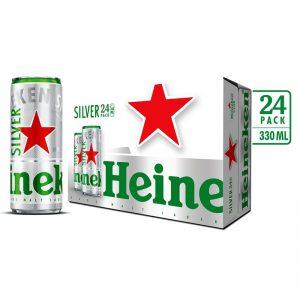 Bia Heineken Bạc (lon)